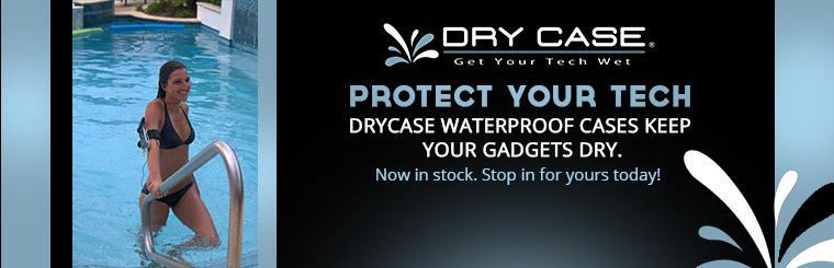 DryCASE waterproof cases keep your gadgets dry.