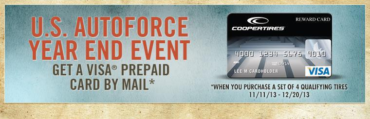 U.S. AutoForce Year End Event: Cooper Rebate Offer