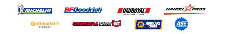 We proudly offer products from Michelin®, BFGoodrich®, Uniroyal®, Wheel Pros, Continental, and General. We are a Napa Auto Care Center, and we are ASE Certified.