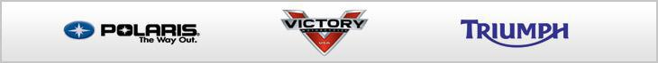 We proudly carry products by Polaris, Victory, and Triumph.