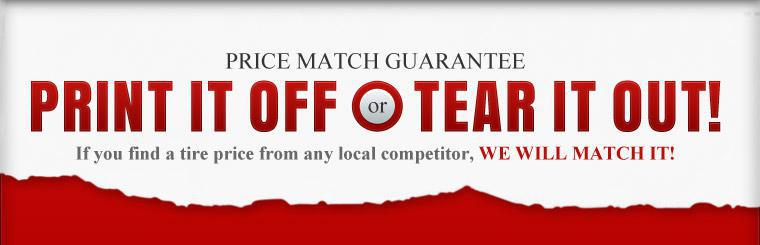 If you find a tire price from any local competitor, we will match it! Click here to contact us.