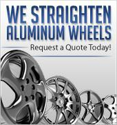We straighten aluminum wheels. Request a quote today!