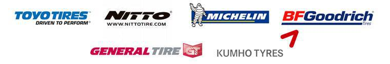 We are proud to feature products from Toyo, Nitto, Michelin®, BFGoodrich®, General, and Kumho!