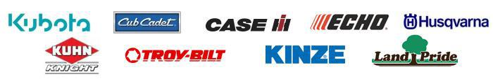 We carry products from Kubota, Cub Cadet, Case IH, ECHO, Husqvarna, Kuhn Knight, Troy-Bilt, Kinze, and Land Pride.