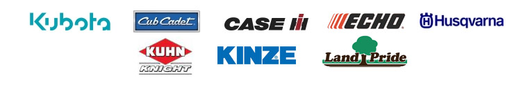 We carry products from Kubota, Cub Cadet, Case IH, ECHO, Husqvarna, Kuhn Knight, Kinze, and Land Pride.