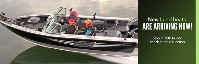 New Lund boats are arriving now! Stop in today and check out our selection.