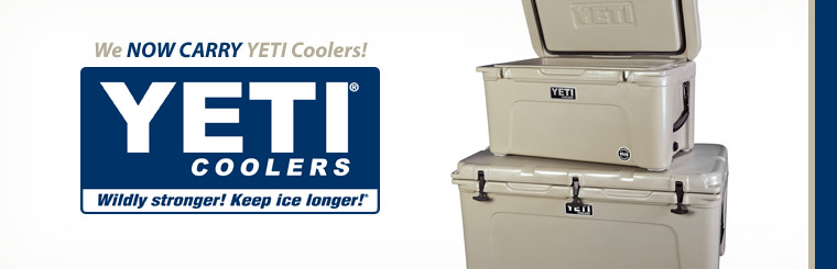 We now carry YETI coolers!
