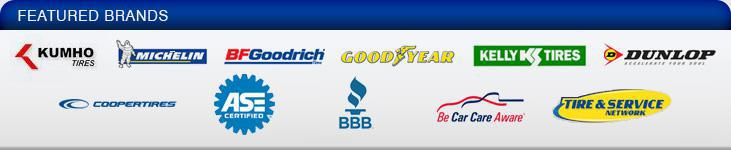 We carry products form Kumho, Michelin®, BFGoodrich®, Goodyear, Kelly, Dunlop, and Cooper. ASE Certified. BBB. Be car care aware. Tires & Service Network