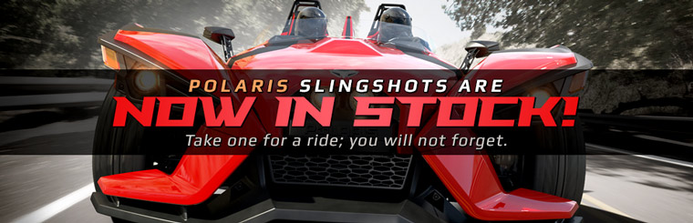 Polaris Slingshots are now in stock! Click here to view the models.