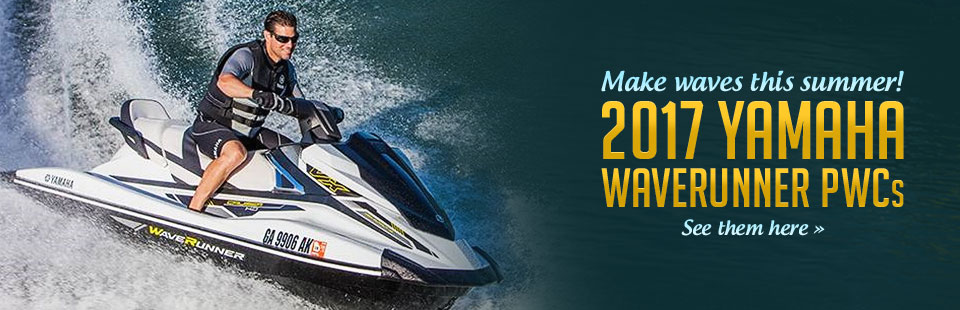 2017 Yamaha WaveRunner PWCs: Click here to view the models.