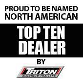 Proud to be named North American Top Ten Dealer by Triton