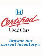 Browse Our Current Inventory of Honda Certified Used Cars