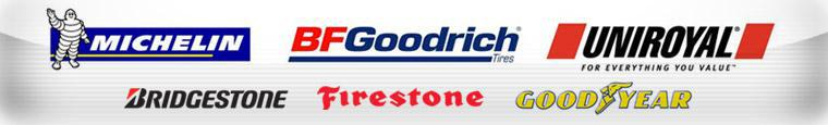 We proudly offer products from Michelin®, BFGoodrich®, Uniroyal®, Bridgestone, Firestone, and Goodyear.