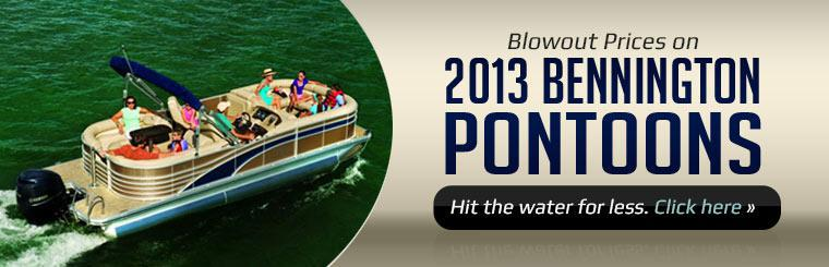 We have over 70 new Bennington pontoons on hand! Stop in and see the models in our huge indoor showroom.