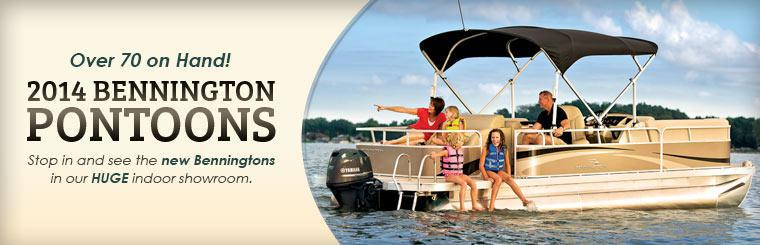 We have over 40 new Bennington pontoons on hand! Stop in and see the models in our huge indoor showroom.