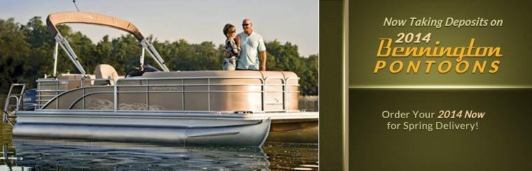 We are now taking deposits on 2014 Bennington pontoons, order yours now for spring delivery! Click here to view our showcase.