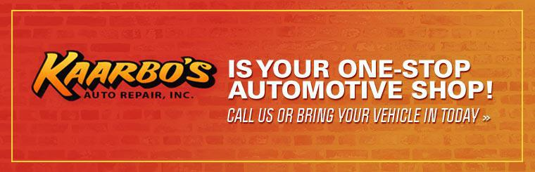 Kaarbo's Auto Repair Inc. is your one-stop automotive shop! Call us or bring your vehicle in today.