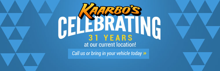 Kaarbo's Auto Repair, Inc. is celebrating 31 years at our current location! Click here to contact us.