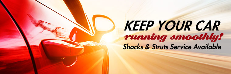 Keep your car running smoothly with shock and strut service! Click here for details.