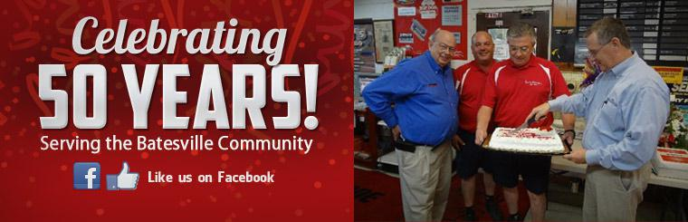 Kent's Firestone Service is celebrating 50 years serving the Batesville community! Click here to like us on Facebook