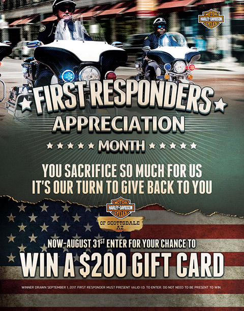 First Responders Appreciation Weekend: August 25th - 27th