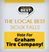 The local best Sioux Falls! Vote for Graham Tire Company!