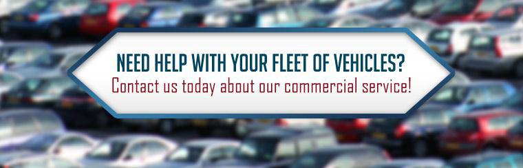 Need help with your fleet of vehicles? Contact us today about our commercial service!