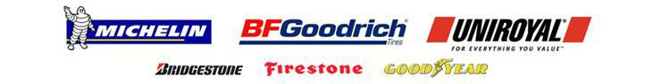 We carry products from Michelin®, BFGoodrich®, Uniroyal®, Bridgestone, Firestone, and Goodyear