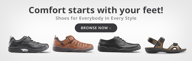 Shoes for Everybody in Every Style: Comfort starts with your feet! Click here to view our selection.