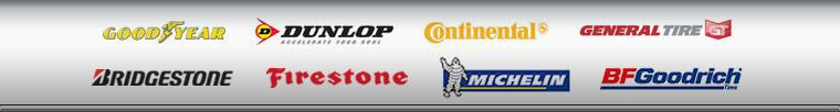 We proudly carry products from Goodyear, Dunlop, Continental, General Tire, Bridgestone, Firestone, Michelin®, and BFGoodrich®.