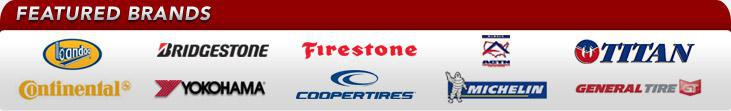 We proudly offer products from: Bandag, Bridgestone, Firestone, ACTN, Titan, Continental, Yokohama, Cooper, Michelin®, and General Tire.