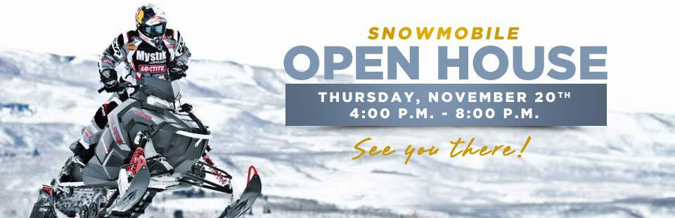 Join us Thursday, November 20th for our Snowmobile Open House! See you there!