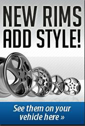 New rims add style! See them on your vehicle here.