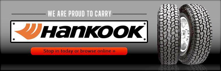 We are proud to carry Hankook! Click here to shop our selection.
