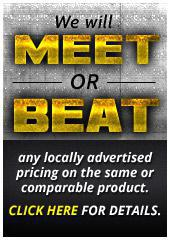 We will meet or beat any price!