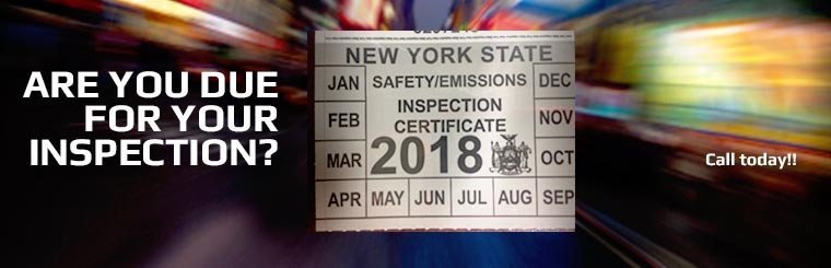 Are you due for your inspection? Call us to make an appointment.