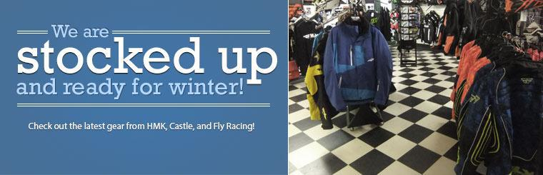 We are stocked up and ready for winter! Check out the latest gear from HMK, Castle, and Fly Racing! Stop in today!