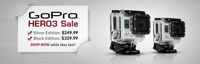 GoPro HERO3 Sale: Get the Silver Edition for $249.99 or the Black Edition for $329.99! Shop now while they last!