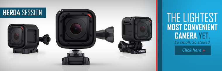 The HERO4 Session is the lightest, most convenient camera yet! Click here to shop our selection.