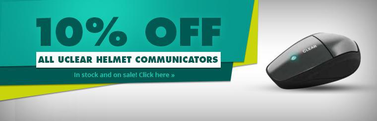 10% Off All UCLEAR Helmet Communicators: Click here to shop online.