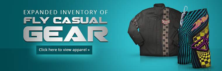 Expanded Inventory of Fly Casual Gear: Click here to view apparel.