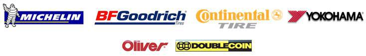 We proudly offer products from Michelin®, BFGoodrich®, Continental, Yokohama, Oliver, and Double Coin.
