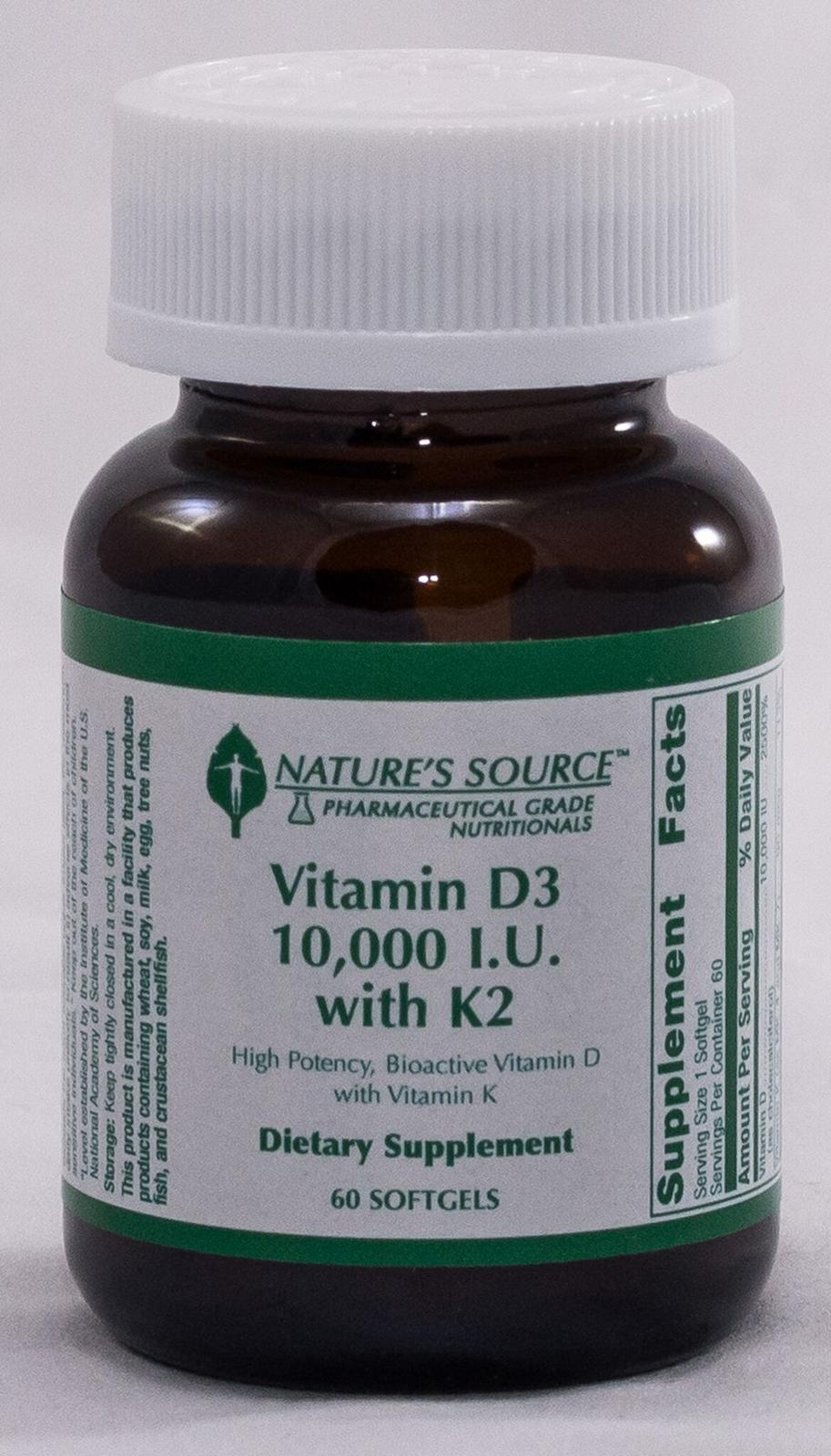 Vitamin D3 10,000 IU & K2 (Nature's Source Vitamins)