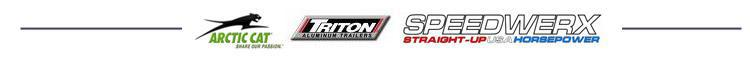 We carry great products from Arctic Cat, Triton Trailers, and Speedwerx.