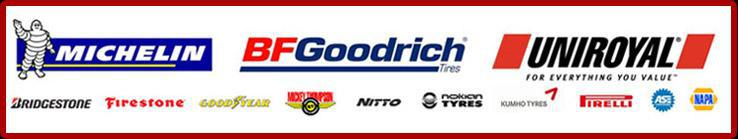 We carry products from Michelin®, BFGoodrich®, Uniroyal®, Bridgestone, Firestone, Goodyear, Mickey Thompson, Nitto, Nokian, Kumho, and Pirelli. We are ASE certified. NAPA.