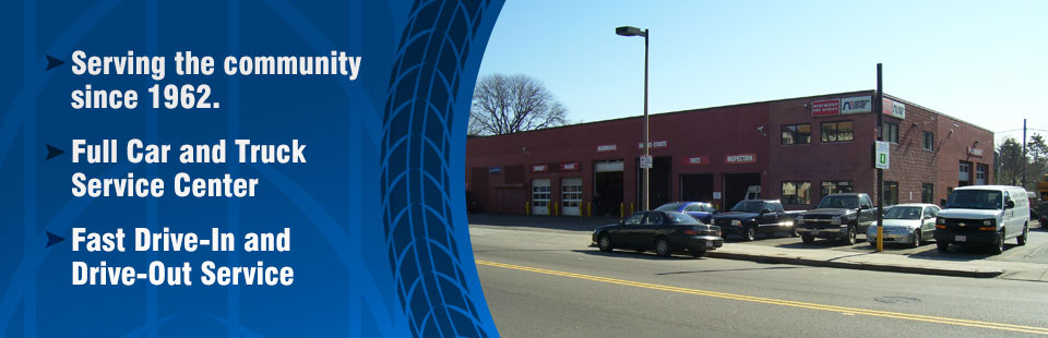 Dorchester Tire Service has been serving the community since 1962. We have a full car and truck service center with fast drive-in and drive-out service.