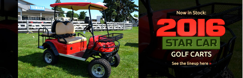2016 Star Car Golf Carts Now in Stock: Click here to see the lineup.