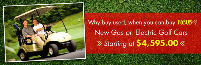 New Gas & Electric Golf Cars