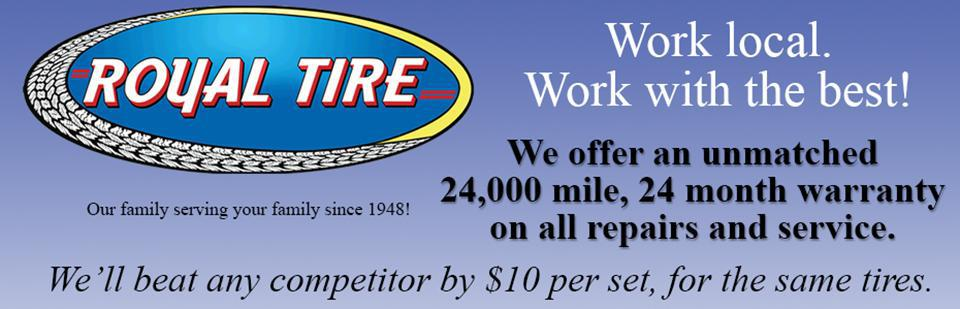 Why Work with Royal Tire