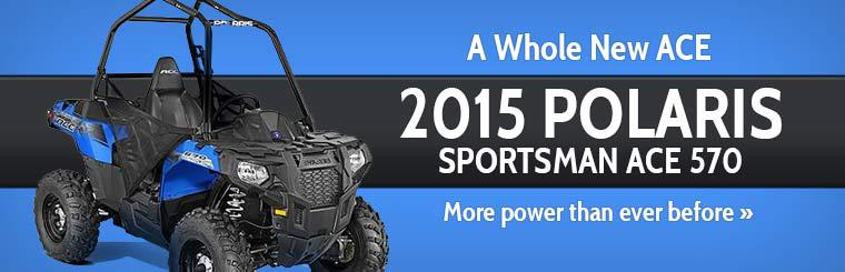 2015 Polaris Sportsman ACE 570: Click here to view the model.